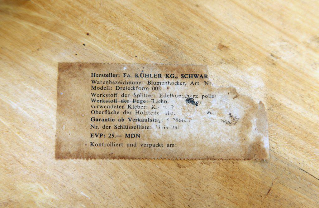 kwietnik niemiecki Blumenhocker- etykieta