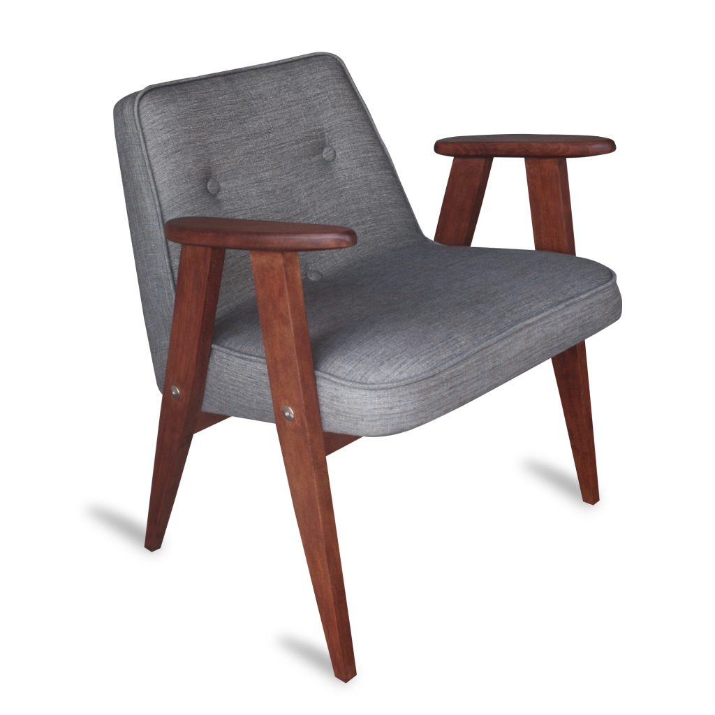 Fotel tapicerowany typ 366 Józefa Chierowskiego