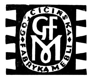 Vademetykieta- Gościcińska Fabryka Mebli, emblemat