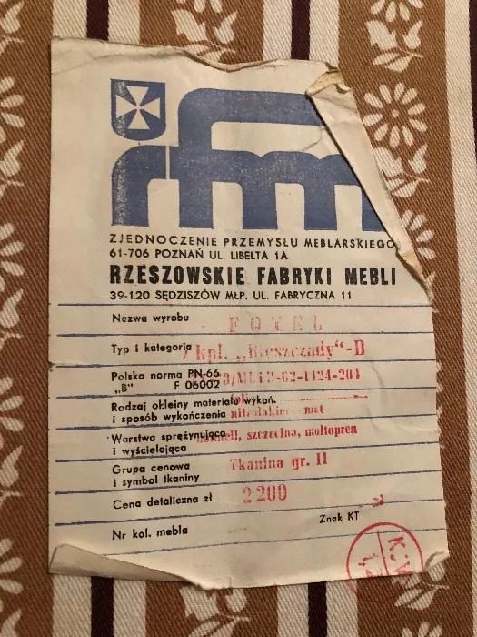Etykieta fotela Bieszczady B