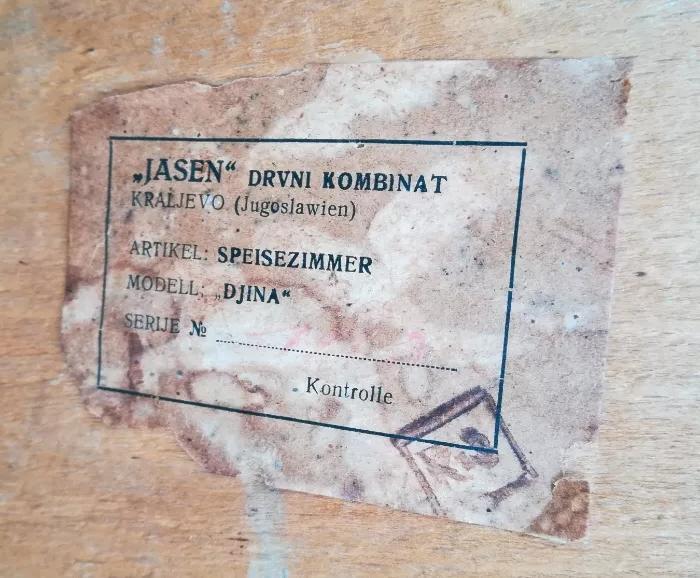 "Krzesło DJINA, prod. Drvni Kombinat ""Jasen"", Kraljevo"