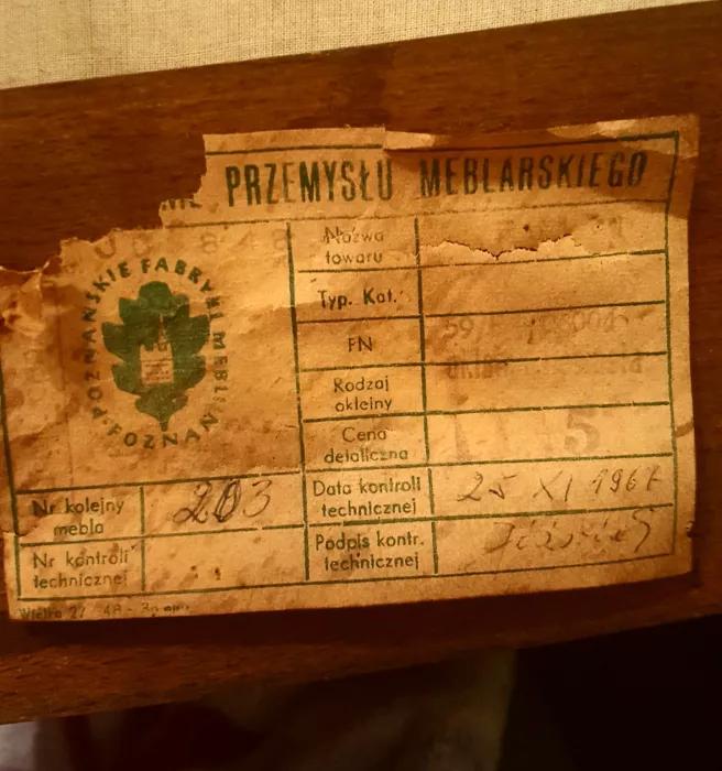 Fotel prod. Poznańskie Fabryki Mebli proj. L. Kuczma
