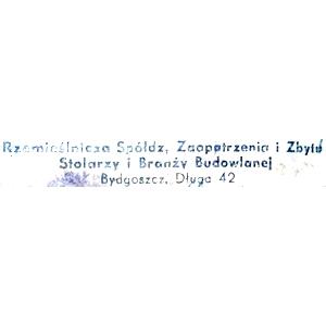 Rzemieślnicza Spółdzielnia, Bydgoszcz, Długa 42 Zaopatrzenia i Zbytu Stolarzy i Branży Budowlanej