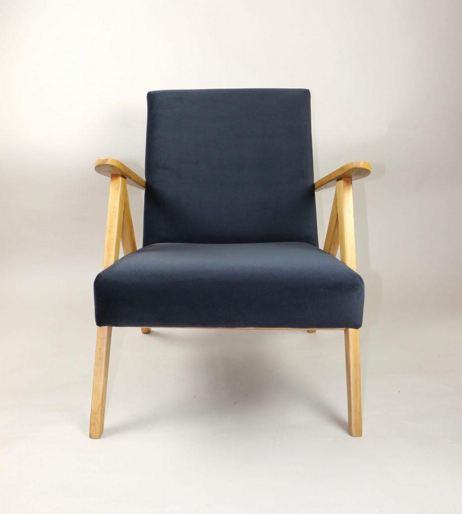 Fotel typ B-310 Var prod. Głuchołaskie Fabryki Mebli oraz Zakłady Mebli Giętych w Radomsku (PRL)