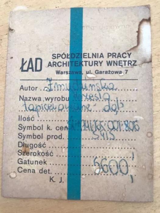 Krzesło proj. Irena Żmudzińska prod. Spółdzielnia Artystów ŁAD