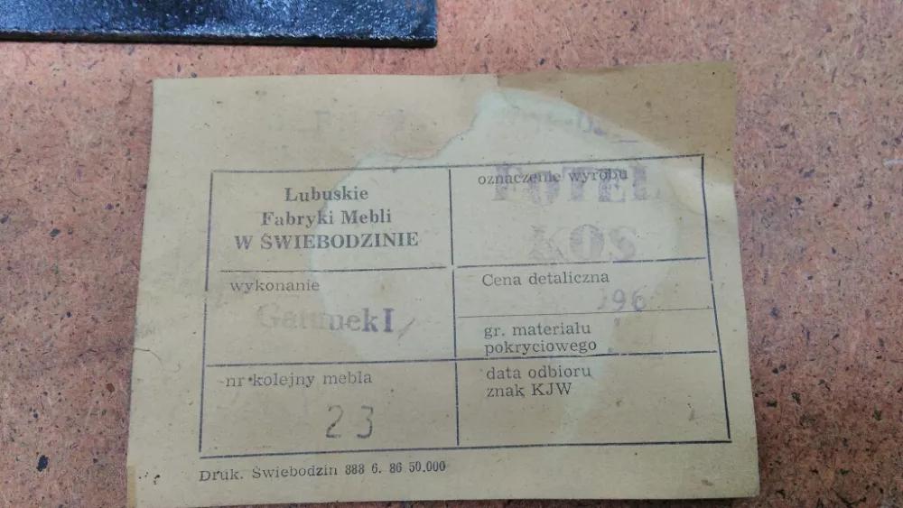 Fotel obrotowy KOS prod. Lubuskie Fabryki Mebli