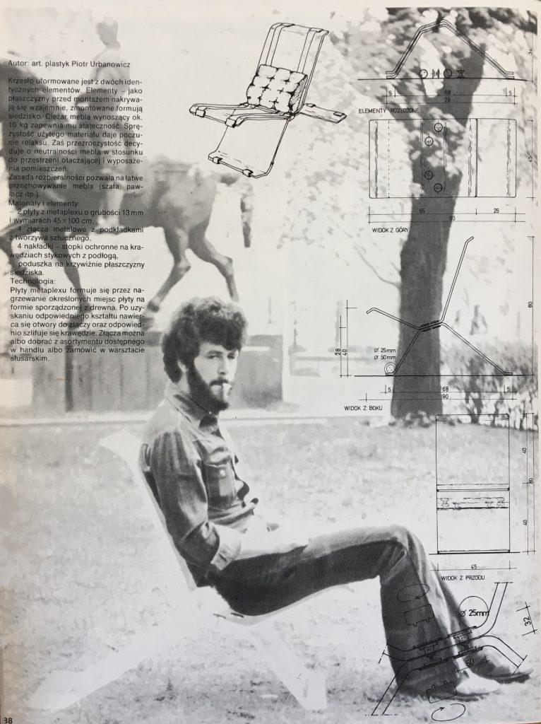 Krzesło z pleksiglasu proj. Piotr Urbanowicz przy ASP Warszawa