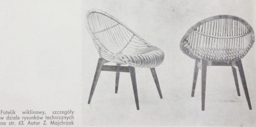 Fotel / krzesło proj. Zygmund Majchrzak, 1957, 1959 Wnętrza Projekty Mebli