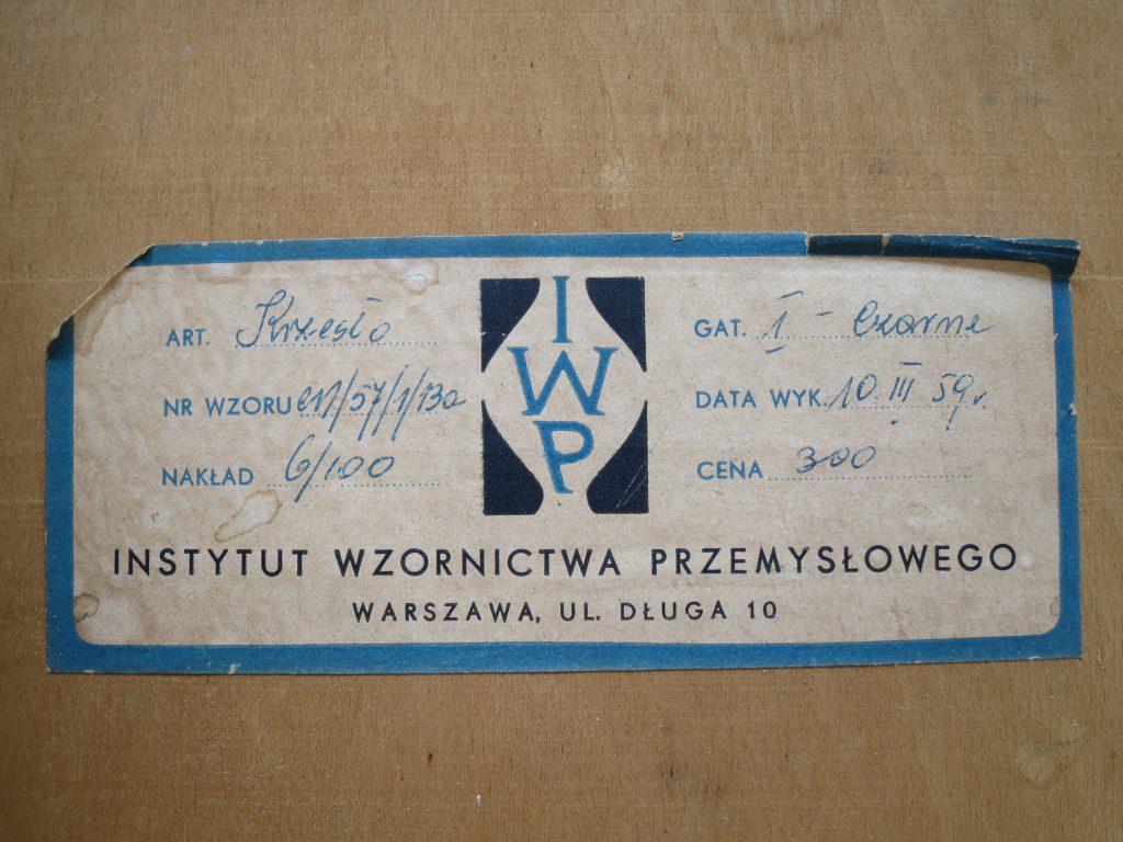 Krzesło stolarskie proj. Zdzisław Wróblewski prod. Instytut Wzornictwa Przemysłowego (IWP)