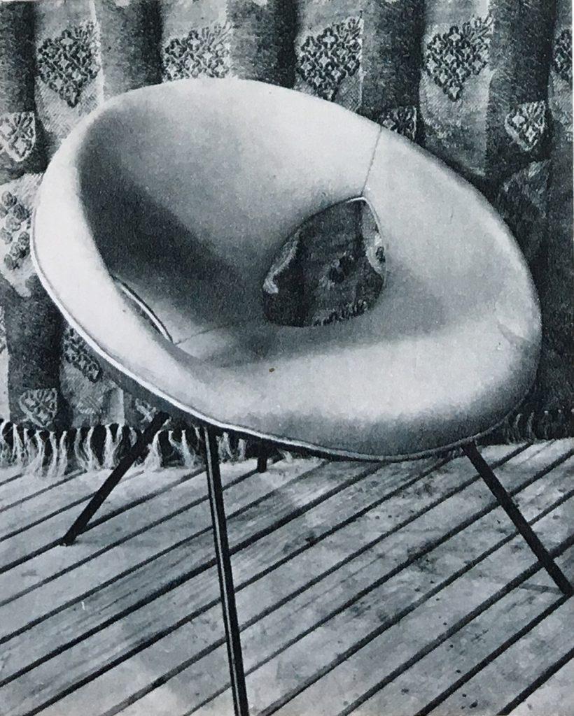Fotel UFO dla Klubu Dziennikarzy przy ul. Podwale we Wrocławiu proj. Lesław Kiernicki, 1957