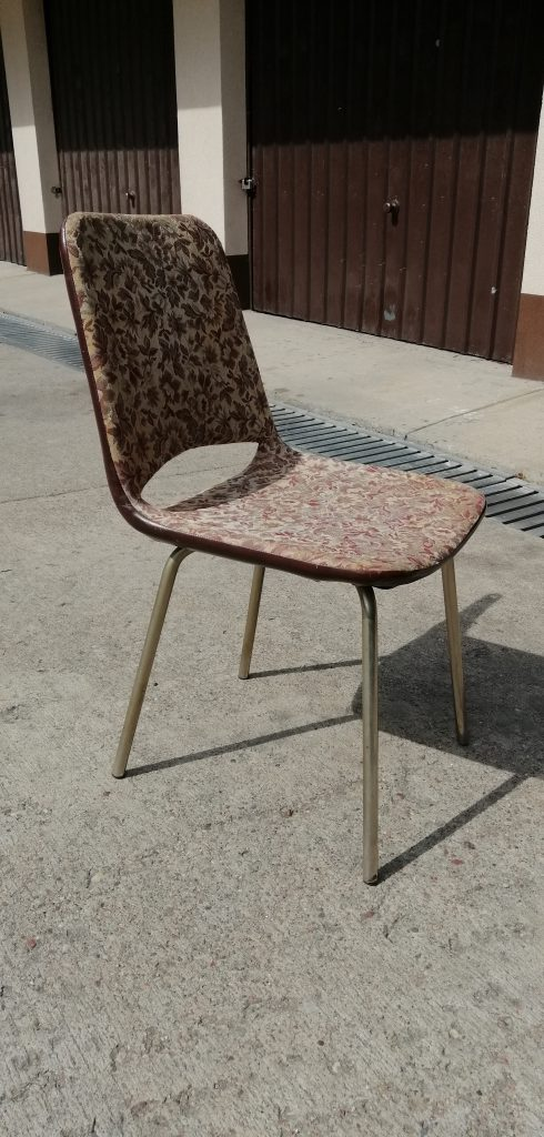 Krzesło metalowe prod. Meblomet w Mszanie Dolnej, PRL
