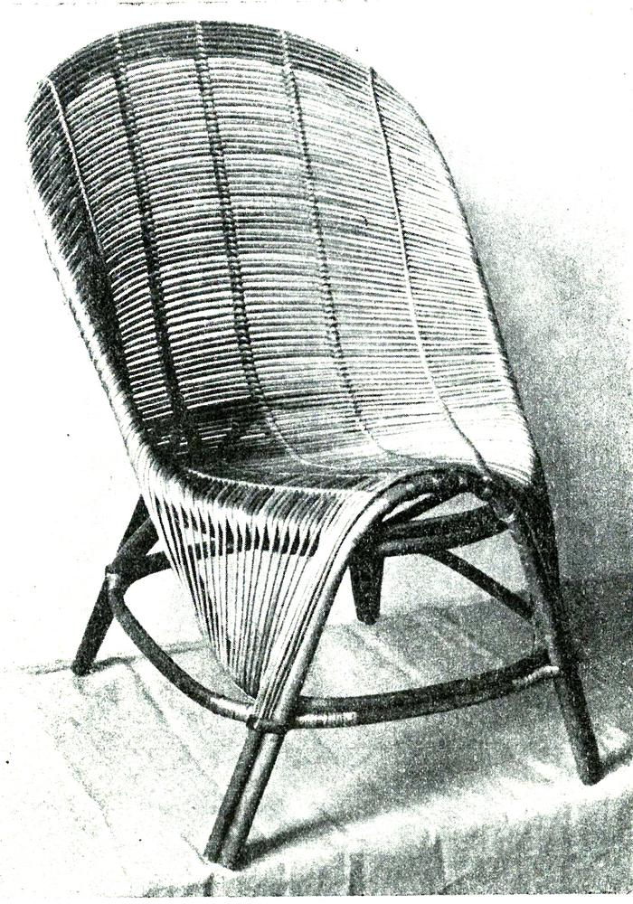 Krzesło Niedźwiedzie Władysława Wołkowskiego na wystawie artysty z 1954 roku